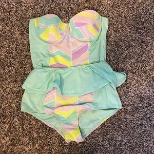 Skirted Anthropologie Swimsuit